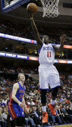 Philadelphia's Jrue Holiday scored 25 points to lead the 76ers in Monday's 104-97 victory over the Detroit Pistons.