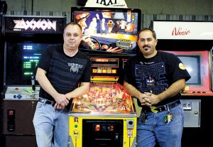 Daniel Solis, right, and Terry South are the partners behind the planned retrocade, Z82.