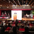 Bryan Harsin speaks in Jonesboro Wednesday at his introduction as the new Arkansas State Red Wolves'...