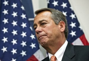 "House Speaker John Boehner said Wednesday at the Capitol that he and President Barack Obama were ""frank"" about the gulf in their positions."