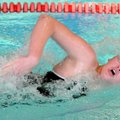 Madysen Bailey of Fayetteville High School swims the 200-yard freestyle Feb. 2 at a meet at the Jone...