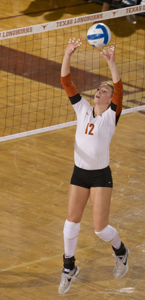 Hannah Allison, a former Siloam Springs standout, has helped lead the Texas Longhorns volleyball team to the Final Four. Allison and the Longhorns will take on Michigan tonight in the the first of two national semifinals.