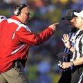 New Arkansas Coach Bret Bielema, shown arguing with an official during last season's Rose Bowl while...