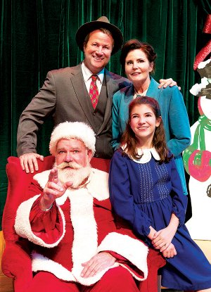 "Fred Mackaman, front left, performs as Kris Kringle in ""Miracle on 34th Street"" Saturday at Alma Performing Arts Center."