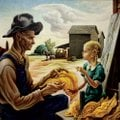 "Thomas Hart Benton's ""Tobacco Sorters,"" from 1942/1944, is another recent acquisition, this one curr..."