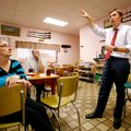Speaker-elect Rep. Davy Carter, R-Cabot, speaks to constituents on Thursday inside Neal's Cafe in Sp...