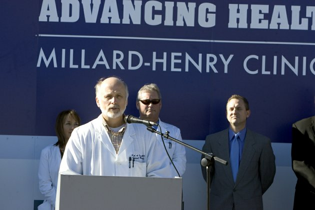 dr-keith-ison-speaks-at-the-groundbreaking-ceremony-for-the-millard-henry-clinics-new-medical-office-building-in-russellville