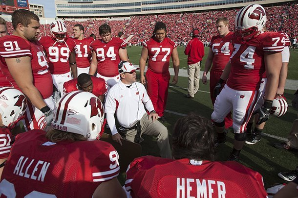 wisconsin-co-defensive-coordinator-charlie-partridge-pictured-in-this-2011-photo-will-join-arkansas-as-defensive-line-coach-following-the-rose-bowl