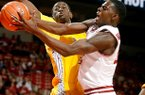Jacorey Williams goes up for a shot during the Razorbacks' 97-59 win over Alcorn State on Saturday.