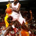 Arkansas junior forward Marshawn Powell scored 18 points in 19 minutes during Saturday's game agains...
