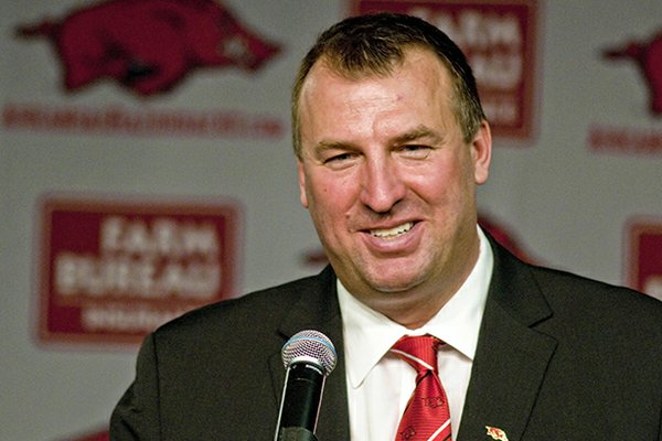 Arkansas coach Bret Bielema announced the addition of two members to the Arkansas football program on Monday.