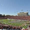 Fans fill War Memorial Stadium prior to a game between Arkansas and Ole Miss on Oct. 27, 2012.