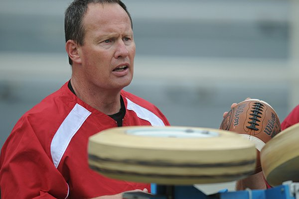 Kris Cinkovich, pictured in this 2010 file photo, will take over as offensive coordinator at Idaho after spending three seasons as Arkansas' receivers coach.
