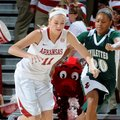 NWA Media/ANTHONY REYES -- Arkansas sophomore Calli Berna (11) steals the ball from Mississippi Vall...