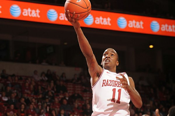 BJ Young scored a game-high 13 points in the Razorbacks' 80-69 win over Florida on Tuesday at Bud Walton Arena.