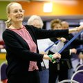 Barbara Tauchas( above) of Springdale exercises Wednesday with the Silver Sneakers class at the Spri...