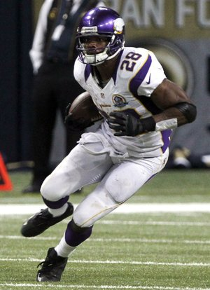 A year after severely damaging his left knee, Minnesota Vikings running back Adrian Peterson needs 294 yards to break Eric Dickerson's all-time single-season rushing record.