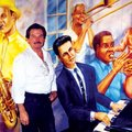 Dan Ellis, pictured here among the jazz greats of New Orleans, will stage his own jazz funeral tonig...
