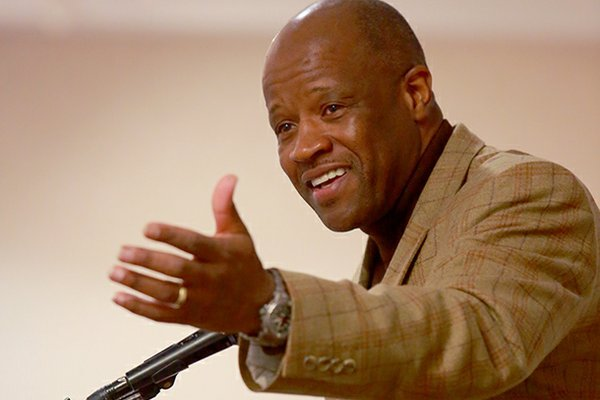 Arkansas Coach Mike Anderson, speaking at the Downtown Tip-Off Club luncheon Friday in North Little Rock, said it remains to be seen how a tough schedule will affect the Razorbacks.