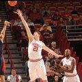 NWA Media/ANDY SHUPE -- Robert Morris junior guard Coron Williams (3) takes a 3-point shot over Arka...