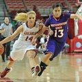NWA Media/MICHAEL WOODS --12/21/2012-- Arkansas' Erin Gatling tries to get the ball past Northwester...