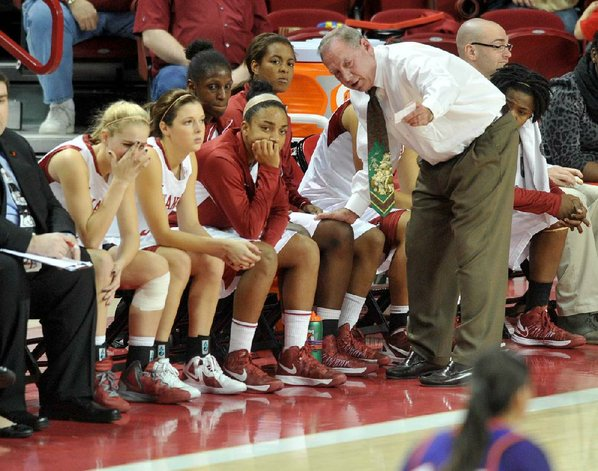 Arkansas women's Coach Tom Collen ...