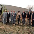 Groundbreaking ceremony for the Springdale Morning News office on Lowell Road in 1991