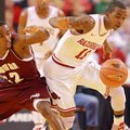 Arkansas Democrat-Gazette/STEPHEN B. THORNTON -- Alabama A&M's Green Hill, left, and Arkansas' BJ Yo...