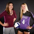 Aubrey Edie, right, of Fayetteville is the NWA Media All-Big 7 Volleyball Player of the Year, and he...