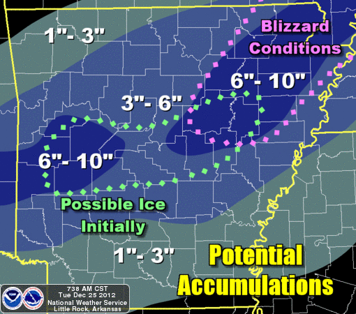 this-graphic-released-tuesday-by-the-national-weather-service-shows-expected-snow-totals-across-arkansas-tuesday-night-into-wednesday