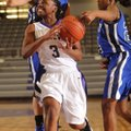 Jaylah Prude, above, Fayetteville guard, has the ball stripped from behind by Conway sophomore guard...