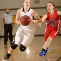 Bentonville's Taylor Lee, left, drives past East Newton (Mo.) defender Whitney Thomlinson on Wednesd...