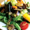 BHK Kafe's Farmers' Market Salad, made with greens assembled fresh from the next door Fayetteville F...
