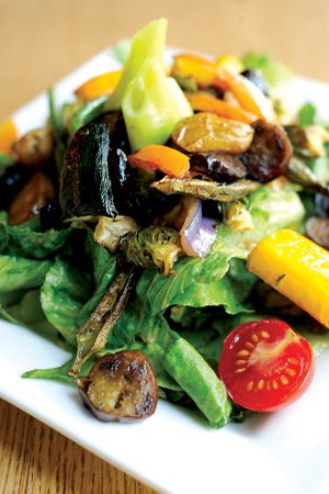 BHK Kafe's Farmers' Market Salad, made with greens assembled fresh from the next door Fayetteville Farmers' Market, illustrates a major Northwest Arkansas food trend for 2012 — the more local, the better.