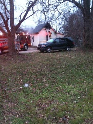 The scene of a fire Friday morning in Bentonville.