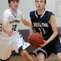 Andrew Daniels, right, of Shiloh Christian School gets past Ryan Davis of Greenwood High School Frid...
