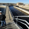 Timothy Tinsley, an operator for CH2M Hill, which operates Fayetteville's West Side Wastewater Treat...