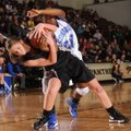 Morgan Miller, left, Siloam Springs junior, and Conway's Asia Willard vie for a loose ball Saturday ...