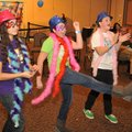 Sarah Behrend-Wilcox, from left, 14, Olivia Moore, 13, and Caroline Elser, 13, all with Arts Live Th...