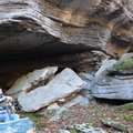 Dennis Boyer, owner of War Eagle Cavern, stops Nov. 27 at the cave's entrance during a tour of work ...
