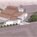 An artist's rendering shows what the Walton Arts Center could look like after an expansion of its Di...