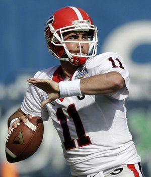 Georgia quarterback Aaron Murray was named the most valuable player in Tuesday's Capital One Bowl after going 18-of-33 passing for 427 yards and 5 touchdowns to lead the No. 7 Bulldogs to a 45-31 victory over No. 16 Nebraska in Orlando, Fla.