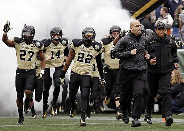 Vanderbilt head coach James Franklin, ...