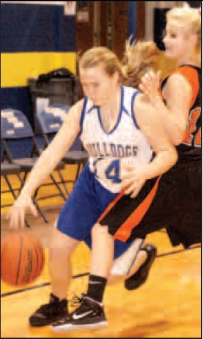 Decatur junior Hannah Ramsey moved the ball down the court during last month's home game against the Watts Engineers.