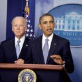 "President Barack Obama, with Vice President Joe Biden, talks about the House passing the ""ÿscal clif..."