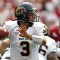 Kent State quarterback Spencer Keith (3) looks to throw against Alabama during the first half of an ...