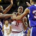 NWA Media/MICHAEL WOODS --12/29/2012-- Arkansas guard BJ Young tries to fight off Northwestern State...