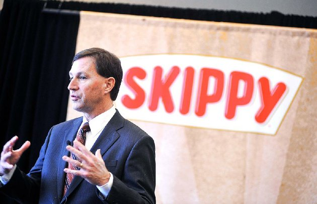 hormel-foods-ceo-jeff-ettinger-holds-a-news-conference-thursday-at-hormel-corporate-north-in-austin-minn-hormel-foods-is-buying-skippy-the-countrys-no-2-peanut-butter-brand-for-about-700-million