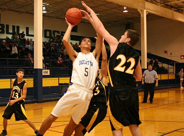 Decatur sophomore forward Mario Urquidi ...