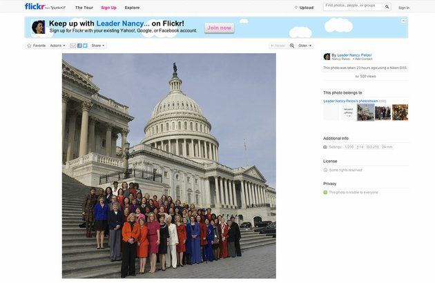 this-screen-grab-from-house-minority-leader-nancy-pelosi-of-calif-flickr-page-shows-an-altered-photo-of-pelosi-posing-with-female-house-members-on-capitol-hill-in-washington-thursday-jan-3-2013-pelosi-is-defending-an-altered-picture-of-democratic-congresswomen-that-was-posted-on-her-flickr-social-media-site-the-group-photo-shows-four-house-members-in-the-back-row-who-arrived-too-late-to-pose-on-the-capitol-steps-a-computer-program-was-used-to-add-them-to-the-image-later-posted-on-flickr-ap-photo
